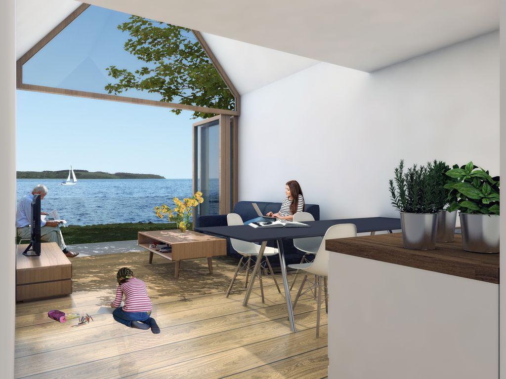 hochwertiger neubau mit direktem zugang zum wasser. Black Bedroom Furniture Sets. Home Design Ideas