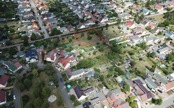 Luftbild mit Umrandung