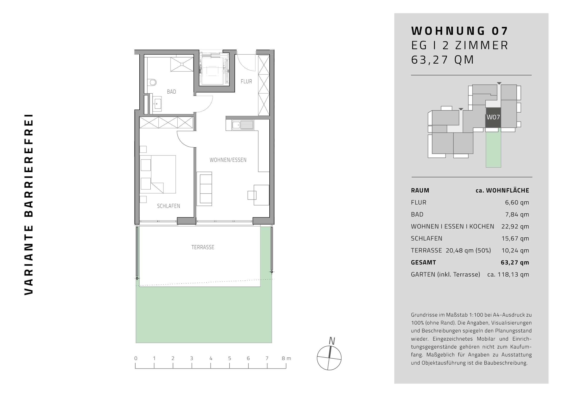 Erstbezug mit Balkon: stilvolle 2-Zimmer-Erdgeschosswohnung in Gaimersheim