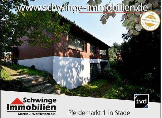 SCHWINGE IMMOBILIEN Stade: 300 m² Wohnhaus in der Nähe zum Athenaeum & Bahnhof.