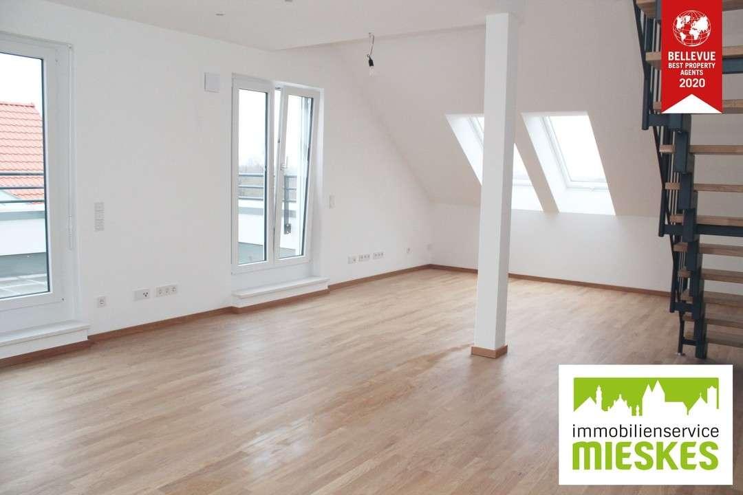 ALLES, AUSSER GEWÖHNLICH!!! Brandneue 3,5-Zimmer-Maisonette-Wohnung mit Dachterrasse in