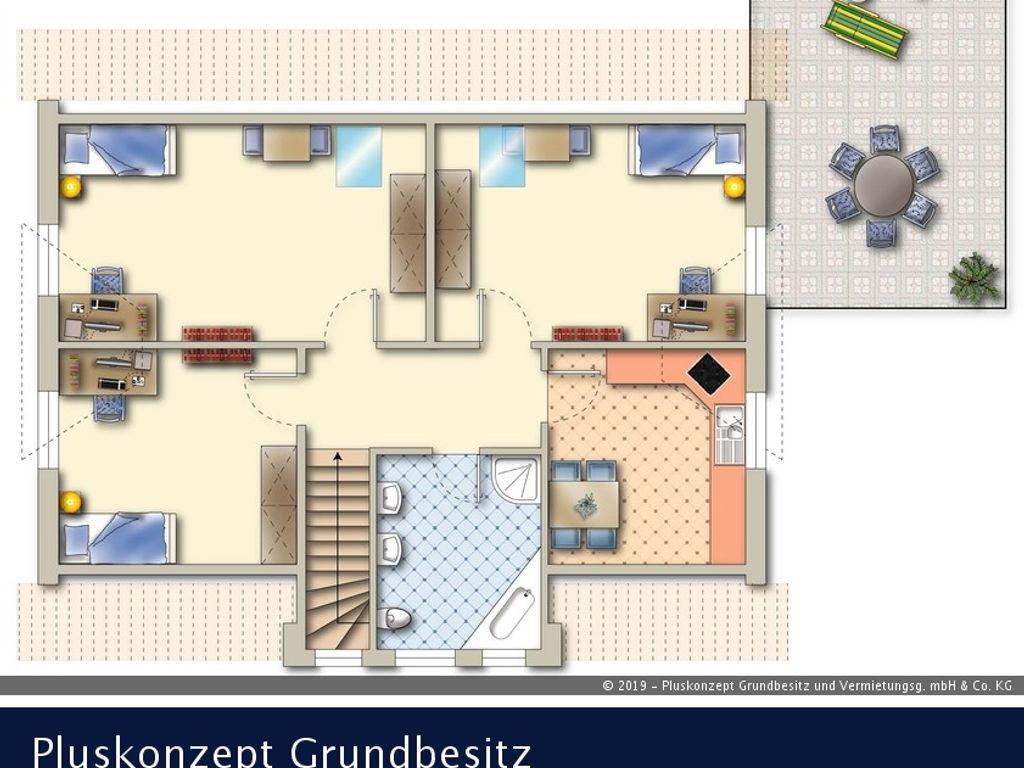 3 zimmer wohnung mit dachterrasse und garage. Black Bedroom Furniture Sets. Home Design Ideas