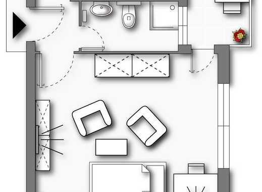 UETERSEN | 1-Zimmerwohnung | 29m² | Sonnenbalkon | mit KELLER