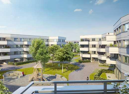 Erstbezug: Hochwertige 3 Zimmer Wohnung mit Westbalkon und top Anbindung