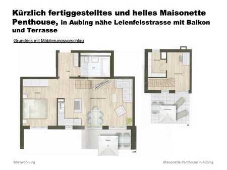 Neues, helles Maisonette Penthouse in Aubing mit Balkon und Terrasse in Aubing (München)