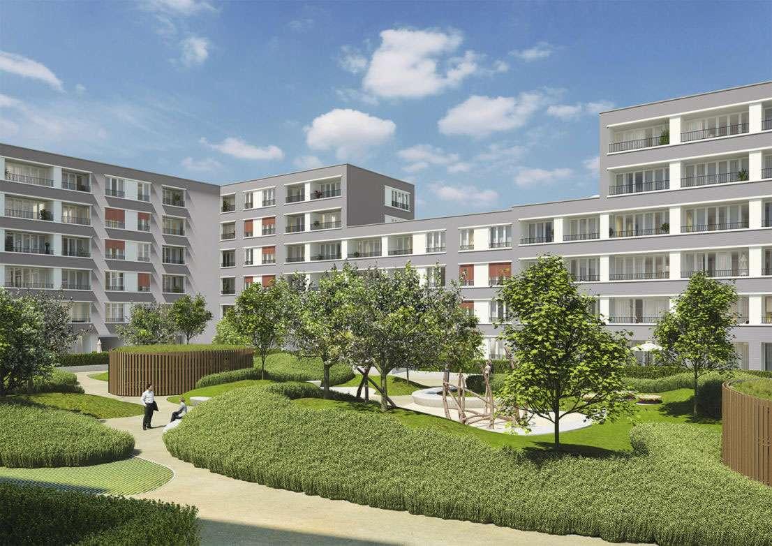 Neubau-Erstbezug mit EBK + großer Terrasse: attraktive 3-Zi-EG-Wohnung in Pasing-Obermenzing in Obermenzing (München)