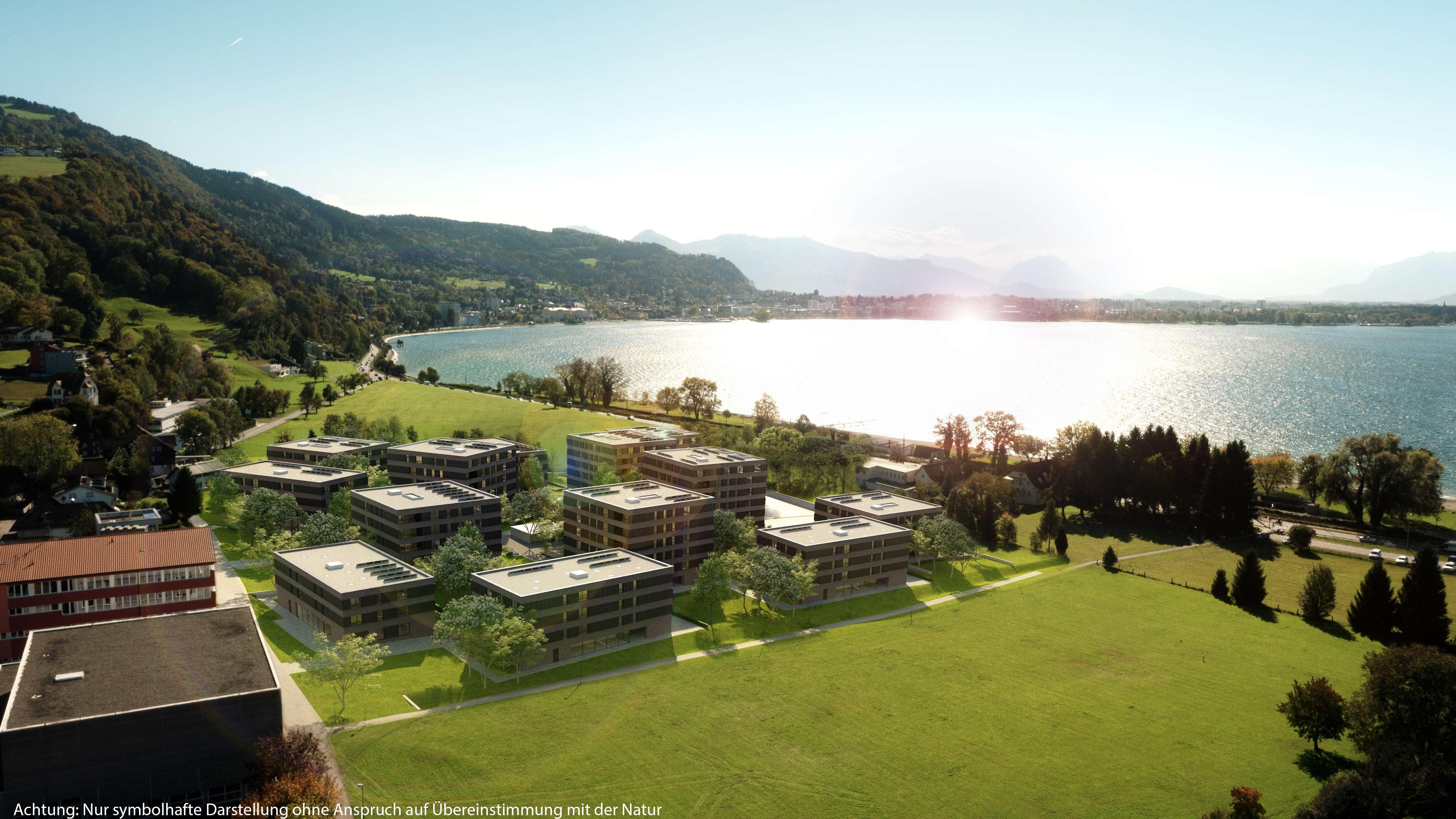 Erstbezug: hochwertige 3-Zimmer-Wohnung mit EBK und Balkon in Lochau in Bodolz