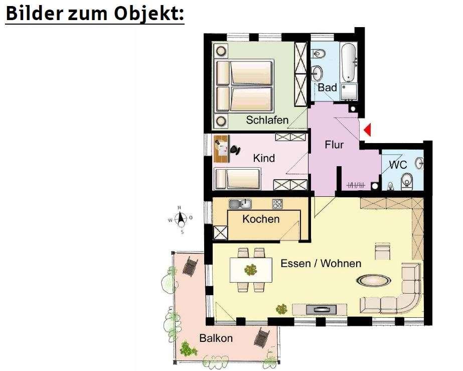 Gepflegte Etagenwohnung in Gaimersheim in