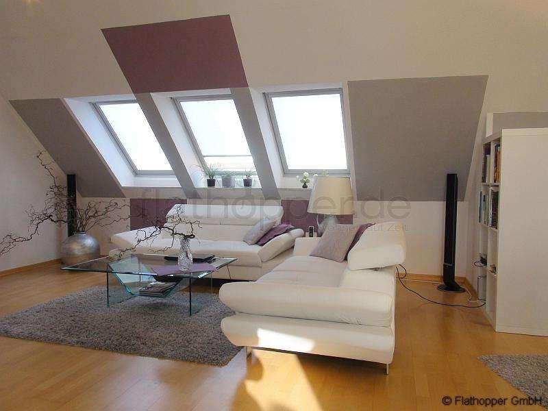 FLATHOPPER.de - EXKLUSIVE 2-Zimmer-Wohnung auf zwei Etagen mit Balkon und TG-Stellplatz in Karlsfel in Karlsfeld (Dachau)