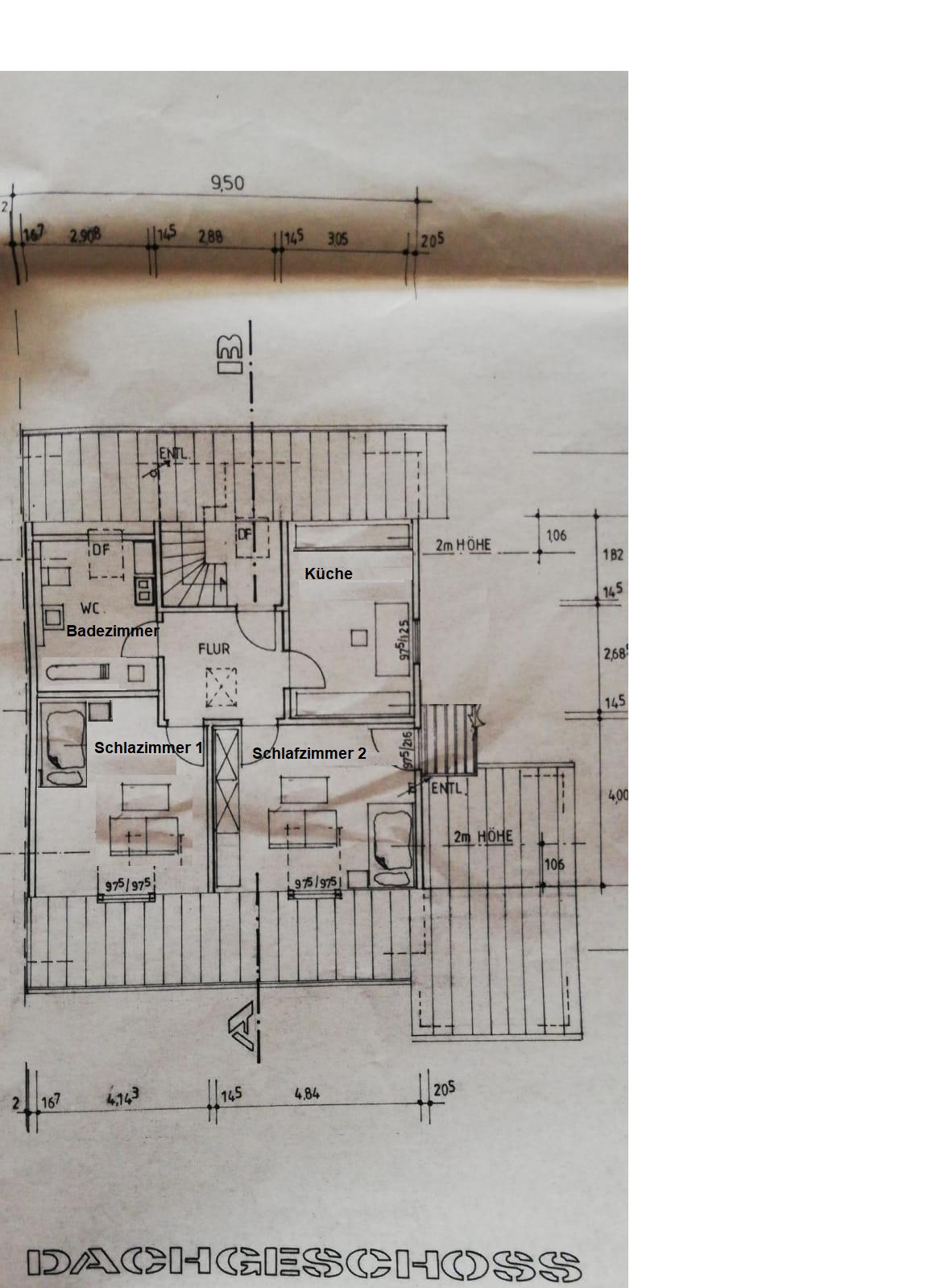 2-Zimmer-DG-Wohnung mit Balkon und EBK in Erding in