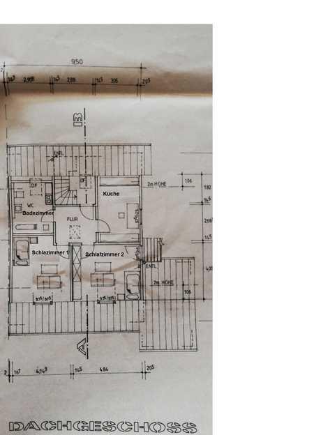 2-Zimmer-DG-Wohnung mit Balkon und EBK in Erding in Erding