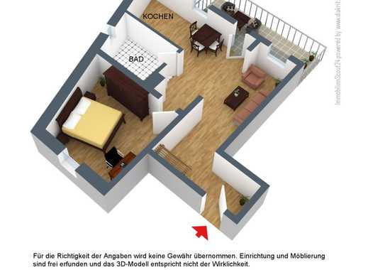 ~ 2-Zimmer-Wohnung mit Einbauküche und Balkon ~