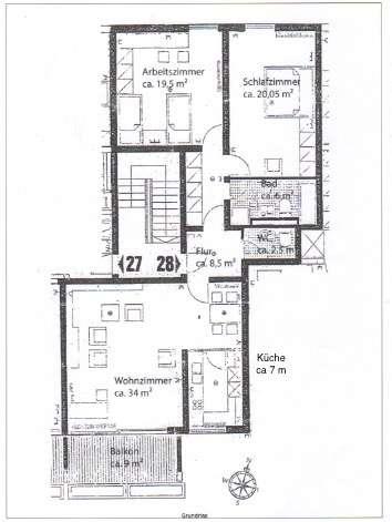 Stilvolle, sanierte 3-Zimmer-Wohnung mit Süd-Balkon und separatem Hobbyraum in Nymphenburg in Neuhausen (München)