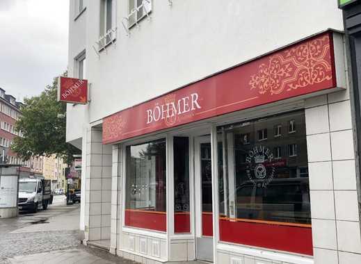 KREUZVIERTEL-Ladenlokal mit Lüftung/ Café, Bäckerei mit Schaufenstern, Keller und WC Einheit