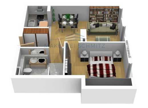 PROVISIONSFREI - Exklusive 2 Zimmer Wohnung auf ca. 62m²