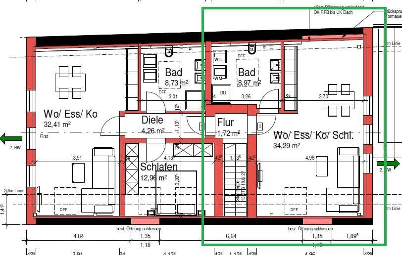 Schöne, geräumige ein Zimmer Wohnung in Eichstätt (Kreis), Schernfeld in Schernfeld