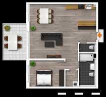 Helle 2 Zimmer-Wohnung in guter