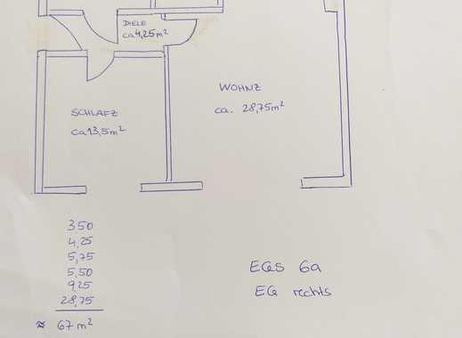 2-Zimmer-EG-Wohnung - ERSTBEZUG nach Sanierung - barrierefrei