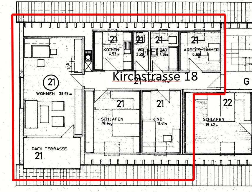 geräumige 4-Zimmer-Dachgeschoss Wohnung im Zentrum von Pfuhl in
