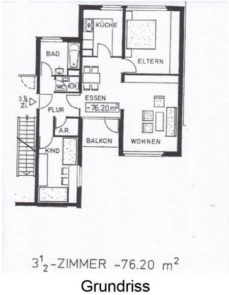 Gepflegte 3,5-Zimmer-Wohnung mit Balkon und EBK in Nürnberg in Langwasser Südost (Nürnberg)