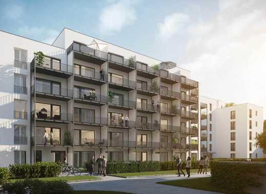 1-Zimmer-Apartment mit zeitlos schönem Eichen-Parkettboden in modernem Neubau in bester Lage!