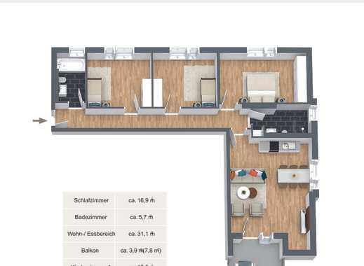 O-Quartier Solingen - eine vortreffliche Lage in Ohligs - Vierzimmerwohnung mit Balkon