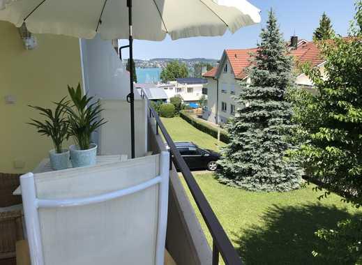 Exklusive, modernisierte 2-Zimmer-Wohnung mit Balkon, EBK und Teilseesicht in Konstanz