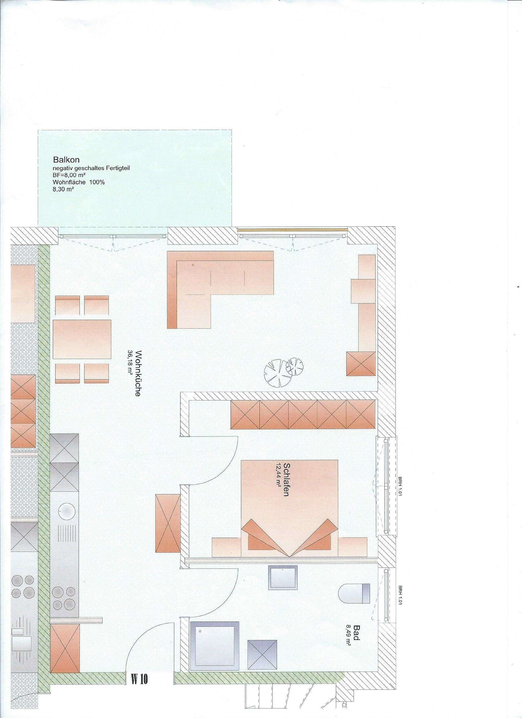 Neubau: Zwei-Zimmer-Wohnung mit Einbauküche, Balkon