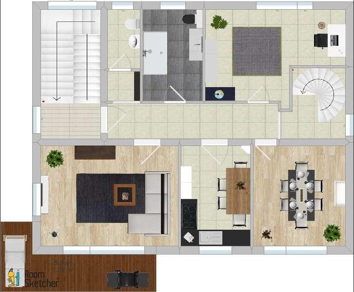 Schöne fünf Zimmer Wohnung in Leinach in
