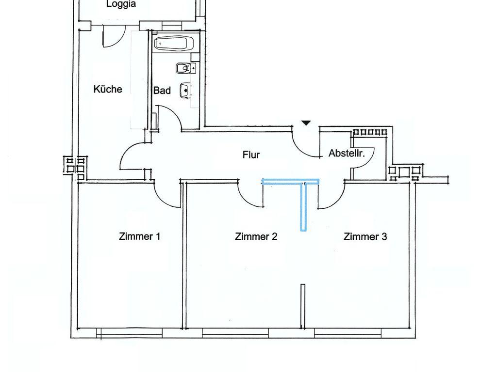 gut geschnittene 3 zimmer wohnung in hamburg harvestehude. Black Bedroom Furniture Sets. Home Design Ideas