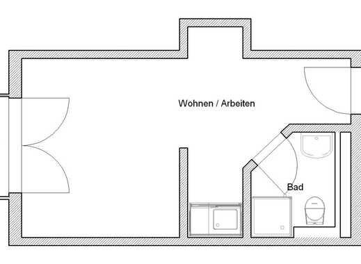 Studenten-/Pendlerap.: Duschbad, Pantry, BLK - 405,- € inkl. BK/HK/Strom! Ab 01.05./16.05. mgl.!