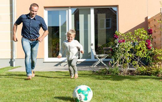 Vater-Sohn-Fussball
