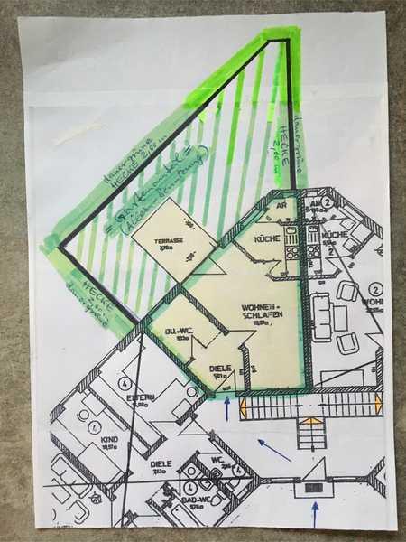 Traum-Apartment (teilmöbliert);  1-ZKB, Terrasse & eigener Garten; Kelheim; Saal/DonauD. in Saal an der Donau