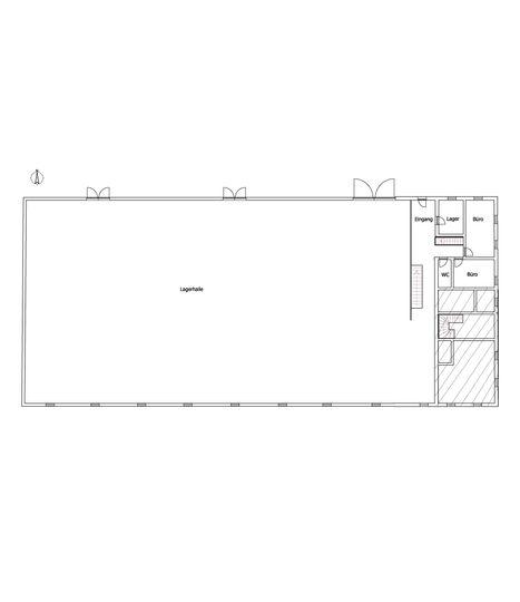 Der Grundriss vom Erdgeschoss