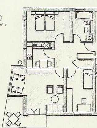 3-Zimmer-Wohnung mit Balkon und Einbauküche in Straubing in Kernstadt (Straubing)