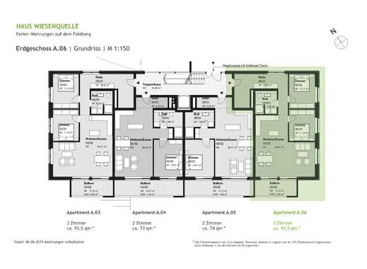 A.06 - 3 Zimmerwohnung im Erdgeschoss mit SW-Ausrichtung - HAUS WIESENQUELLE Feldberg