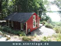 Romantische Schwedenhütte am See