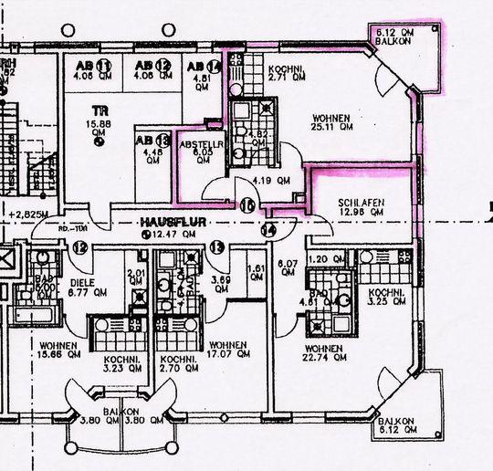 Grundriss zur Wohnung