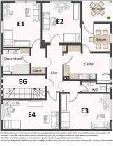 Bild 3x WG zu vermieten EG4Zi, OG4Zi, DG5Zimmer je mit Küche Bad und WC
