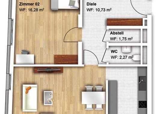 Schöne, Geräumige Drei Zimmer Wohnung In Offenburg Am Kronenplatz  (Erstbezug)