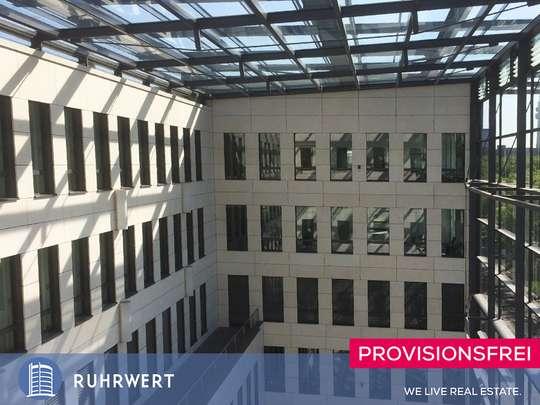 Artrium von Moderne Büroflächen vis-a-vis der Westfalenhalle mit großer Dachterasse !!