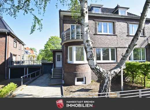 Schwachhausen / Sanierte Rotklinker-Doppelhaushälfte mit großem Garten