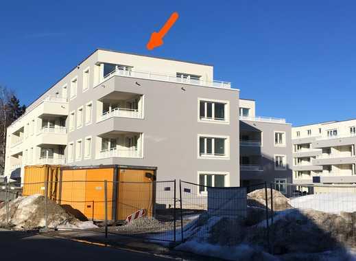 TOP-Neubau: Lichtdurchflutete Penthouse-Wohnung mit riesiger Dachterrasse und Zugspitzblick