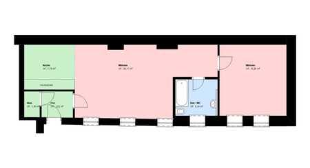*Maxvorstadt*möblierte 2 Zimmer* mit EBK*Bad mit Wanne*Keller* in Maxvorstadt (München)
