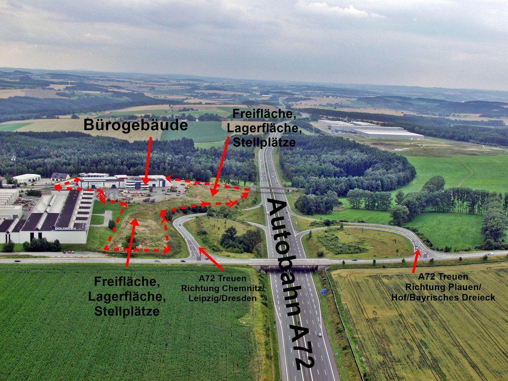 Luftbild Firmengelände Autobah