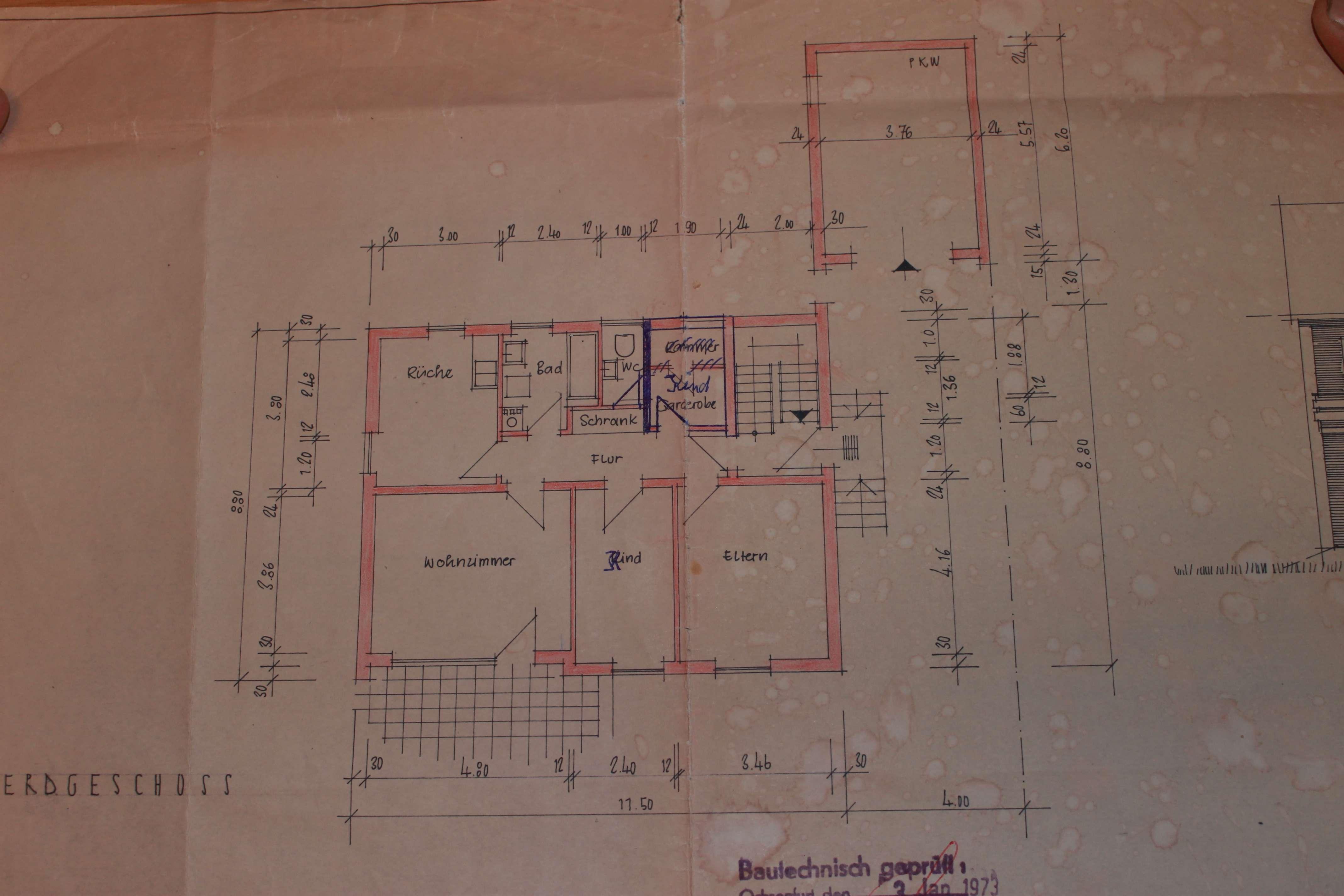 Gepflegte 3,5-Zimmer-Wohnung mit Terrasse und Stellplatz in Giebelstadt