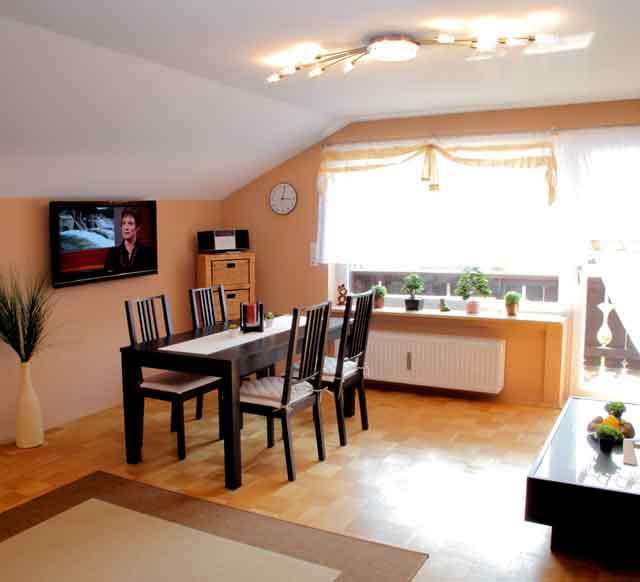 Gemütliche, neuwertige 2-Zimmer-DG-Wohnung mit Balkon und Einbauküche in Grainau