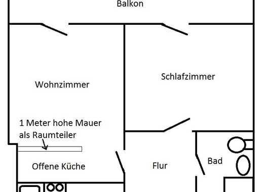 Schöne zwei Zimmer Wohnung in Köln, Sülz