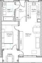 öffentlich geförderte 2-Zimmer Erdgeschoss Wohnung
