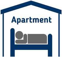30 bis 150 Apartments f